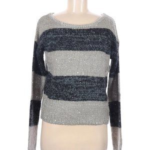LOFT Ann Taylor striped Knitting Sweater Khaki M
